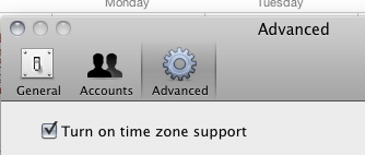 iCal time zone support