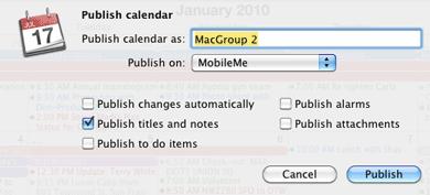 iCal-publish