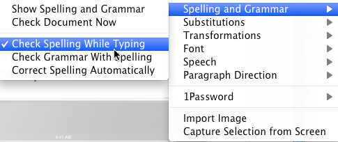spellchecking