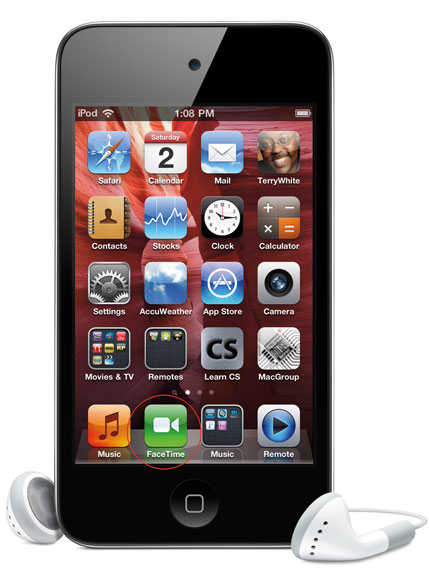 facetime with the new ipod touch macgroup detroit. Black Bedroom Furniture Sets. Home Design Ideas