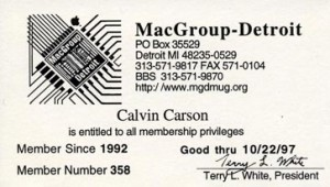 MacGroup Member Card 1.5 size