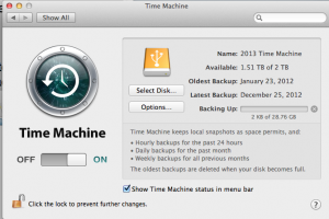 Time Machine Latest to Now