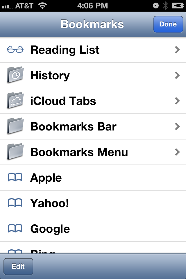 iPhone Bookmarks 2