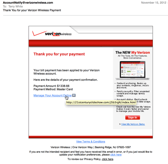 how to detect phishing website